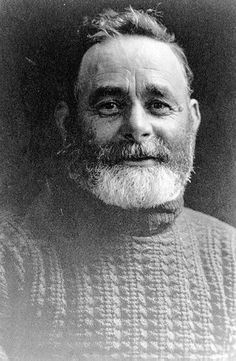 Photograph of 'Lotion Tar' Bishop, a fisherman in his gansey.