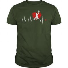 Cool Cricket in my heartbeat sport sports shirt T-Shirts #tee #tshirt #named tshirt #hobbie tshirts # Cricket