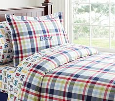 Plaid Duvet Cover | Pottery Barn Kids