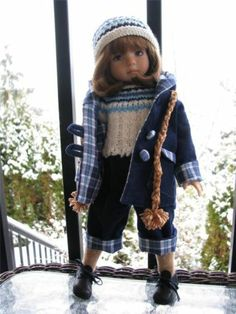 """~WINTER BLUES!~ by Tuula fits Dianna Effner 13"""" Little Darling to a """"t""""!"""