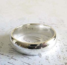 A handmade sterling silver wedding band is a perfect option for the minimalist…