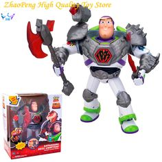==> [Free Shipping] Buy Best Toy Story 3 Battlesaurs Buzz Lightyear Talking PVC Action Figure Collectible Model Toy 32cm RETAIL BOX FB246 Online with LOWEST Price | 32799987953