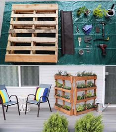 Verticale moestuin met houten palletten Outdoor Sofa, Outdoor Furniture Sets, Outdoor Decor, Edm, Tiny House, Diy Crafts, Urban Gardening, Home Decor, Trends