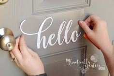 See how you can create vinyl decals! I make a removable hello decal for my front door and a beYOUtiful decal for a mirror with step by step instructions!
