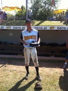 Eric Brenk  Finkstonball MVP 2014 - Bad Homburg Hornets, Germany 2014 Homburg, Hornet, Baseball Players, Germany, Sports, Hs Sports, Vespa, Sport, Deutsch
