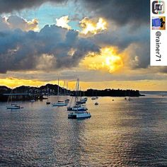 #Repost: 3000 pics on Instagram - my personal favourites: Sunrise in Guadeloupe