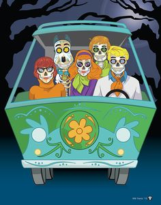 """Scooby Gang"" Print Inspired by the Cartoons and Movie scooby doo, shaggy, velma, daffney and freddy"