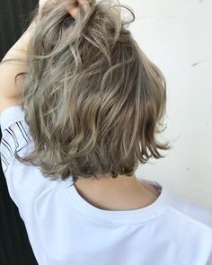 Hair Color Streaks, Hair Color Purple, Kawaii Hairstyles, Permed Hairstyles, Medium Hair Styles, Short Hair Styles, Hair Arrange, Aesthetic Hair, Grunge Hair