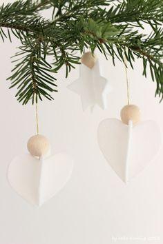Weiße Sterne für den Christbaum...