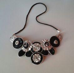 Bellissima Collana nera e argento