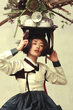 Hanbok, Vogue Korea Photography by Ogh Sang Sun