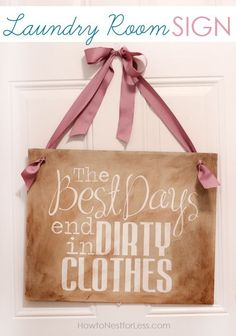 painted laundry room sign by rosalyn