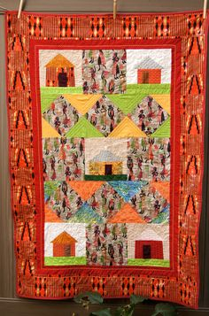 African Village Quilt.  Free pattern for the diamond variation of this quilt is on my blog https://judith-tucker.squarespace.com/sleepingdogquilts/2014/8/15/african-village-quilt-completed-free-pattern