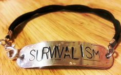 SURVIVALISM  Nine Inch Nails  Bracelet by BeadMeSilly on Etsy