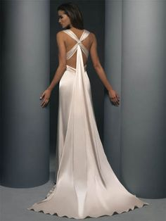 backless lace wedding dress...really love the back. Maybe used for a reception dress