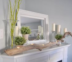 Gorgeous Spring Mantels {decorate mantel} | Home Stories A to Z
