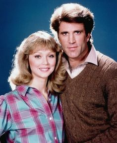 """TV's top couples: Shelley Long and Ted Danson in """"Cheers."""""""