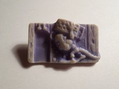 """Vtg cracker jack celluloid """"rat #carrying chesse #brooch"""" charm japan #lot#281,  View more on the LINK: http://www.zeppy.io/product/gb/2/272027940853/"""
