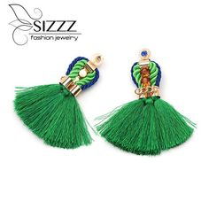 #BestPrice #Fashion SIZZZ 8CM Long/2CM Wide Long Earrings Bohemian National New Fringed Earrings High Quality Products For Women