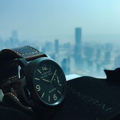 ½ of the #Panerai PAM786 boxed set. The Destro Black Seal high up over the Dubai Skyline. Picture by dear friend @a.j77 #PaneraiCentral