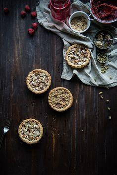 Raspberry Cardamom Almond Tarts by Two Red Bowls, via Flickr
