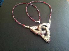 Necklace using size 11/0 delica beads and peyote stitch