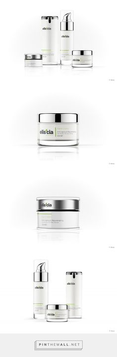 Elis'cia All Natural Skin Care Packaging by Chris Edwards Skincare Packaging, Beauty Packaging, Cosmetic Packaging, All Natural Skin Care, Organic Skin Care, Natural Makeup, Identity, Glass Packaging, Branding Agency