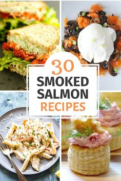 Here are 30 of the best smoked salmon recipes, created by expert food bloggers. Get more healthy Omega-3s in your diet by incorporating more salmon into your cooking #smokedsalmon #salmon #fish #appetizers #sandwiches #maindishes Recipes Using Smoked Salmon, Smoked Salmon Pate, Best Smoked Salmon, Smoked Salmon Cream Cheese, Smoked Salmon Sandwich, Smoked Salmon Appetizer, Sushi Recipes, Seafood Recipes, Appetizer Recipes