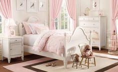 Mädchenzimmer in rosa und weiß