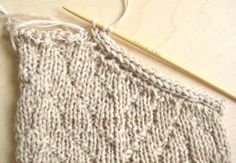 The I-Cord edge finish leaves a clean simple finish to the edge of a knitting project.