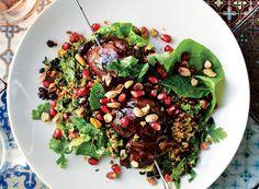 Pomegranate Recipes, Pomegranate Salad, Halloumi, Granada, Pomegranate Molasses Dressing, Salad Topping, Cooking Recipes, Healthy Recipes, Nytimes Recipes