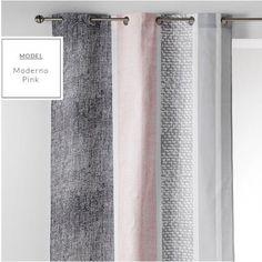 Sivo ružový škandinávsky záves Pink, Curtains, Shower, Home Decor, Trendy Tree, Living Room, Rain Shower Heads, Blinds, Decoration Home