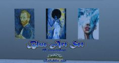 Blue Art Set for Sims 4 My Sims, Sims Cc, Falling Objects, Cute Calendar, Sunflower Nails, Sims 4 Update, Seamless Background, Sims 4 Custom Content, Blue Art