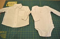 Infant dress shirt turned onesie.  Need this for all the stupid shirts made for infants that aren't a onesie style.