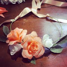 "Petal & Bird (@petalandbird) on Instagram: ""Friday flower crown fun #paperflorist #flowercrown #flowercrown #paperflowers #weddingflowers…"" Paper Roses, Flower Crown, Wedding Flowers, Floral Wreath, Friday, Wreaths, Bird, Instagram Posts, Fun"