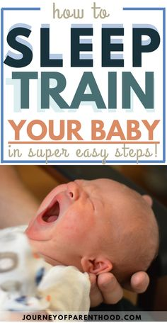 How to Sleep Train Your Baby in Super Easy Steps. Get your baby sleeping through the night and sleep for naps during the Help Baby Sleep, Get Baby, Kids Sleep, Child Sleep, The Journey, Gentle Sleep Training, Help Getting Pregnant, Baby Wise, Baby Life Hacks