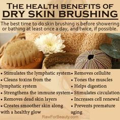 The Health Benefits of Dry Skin Brushing  Azure Standard natural and organic ingredients would be amazing for your skin care needs! Contact us at today 785-380-0034 if you are interested in having high quality affordable organics delivered to your area.