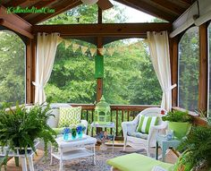 screened in porch decorating ideas | ... nest showed off her screened porch in join me in the screened porch