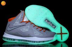 Grey Orange Glow in the Dark Nike Lebron X (10) Discount