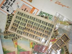 Lot of vintage trade stamps and booklets by sweetalicelovesyou