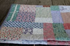 really like this type of patchwork: looks like it's actually made from scraps
