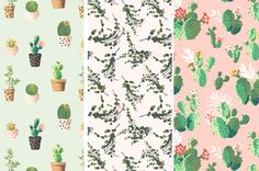 9 Vector seamless patterns by Graphic Box on Creative Market