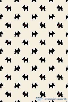 Scottie Dog iPhone wallpaper