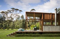 Living off-grid never looked so good.  Great Barrier House by CCCA Architects, NZ.