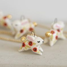 Poppy Bunny Necklace