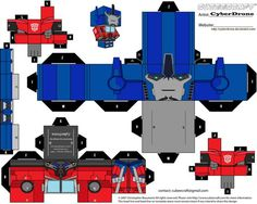 Custom Transformers Cut out templates of paper toys i've made. All my Transformers Cubeecraft fan art designs are based on Characters originally from Hasbro / Takara Transformers Series of Toys and. 3d Paper Crafts, Paper Toys, Diy Paper, Transformer Costume, Transformer Birthday, Transformer Halloween, Transformers 4, Optimus Prime Costume, Transformers Birthday Parties