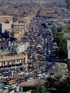 "Baghdad - Downtown driving ""WORST drivers in the world"" - but I've heard that in every country I've lived in."