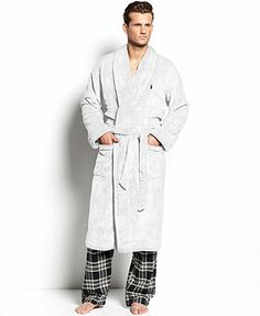 Polo Ralph Lauren Men's Sleepwear, Fleece Shawl Collar Robe