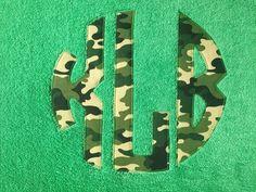 Circle Monogram Camo Personalized Beach Towel.  Camouflage Circle Monogram.