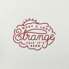 Who doesn't love some beautifully designed embossed type?!